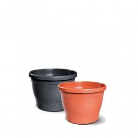 Vaso Plástico Redondo Primavera - N02 - 13x17cm - 1,9 L