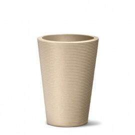 Vaso Riscatto Cônico N72 - 72x50cm - 96 Litros - Cor Areia
