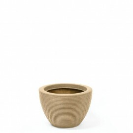 Vaso Riscatto Oval Baixo N22 - 22x31,3cm - 12 Litros - Cor Areia