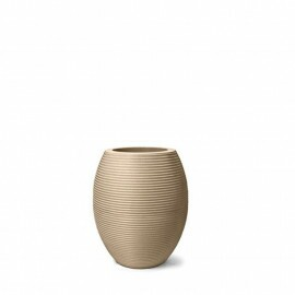 Vaso Riscatto Oval N38 - 38x22,5cm - 19 Litros - Cor Areia