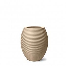 Vaso Riscatto Oval N52 - 52x30,5cm - 50 Litros - Cor Areia