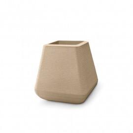Vaso Riscatto Quadrado N42 - 42,5x27,5cm - 48 Litros - Cor Areia