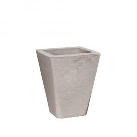 Vaso Trapézio Grafiato N60 - 60x40 cm - 53 L - Cor Cimento