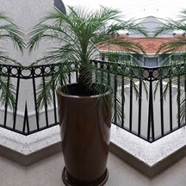 Vaso Fibra de Vidro - Verona 44PP - 50 alt x 44 diâm - Diversas Cores - Rotogarden