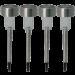 Kit com 4 Luminária Solar Decorativa Inox Pequena - 11315 - Ecoforce