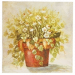 Quadro Madeira 30x30cm - Vasos com Flor - CP0141