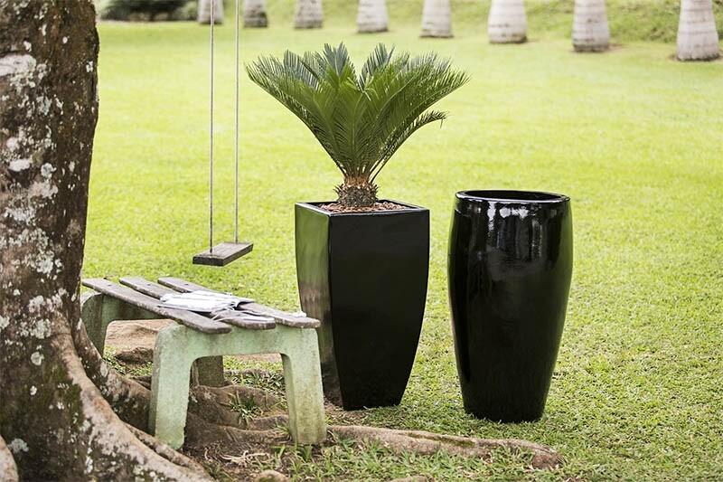 Vasos Fibra de Vidro Marrom