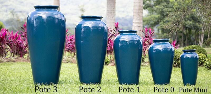 Vasos Fibra de Vidro Vermelho Royal Verniz Escuro