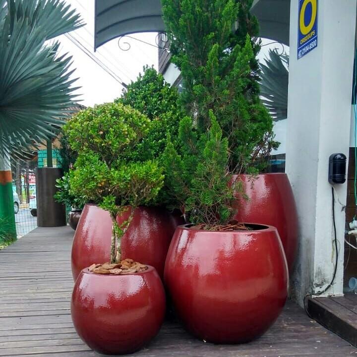 Vasos Fibra de Vermelho Fenix