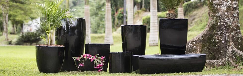 Vasos Fibra de Vidro Preto