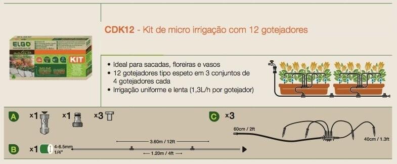 Kit para micro irrigação muito prático