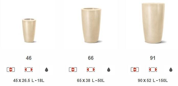 Linha Vaso Cônico Liso Classic