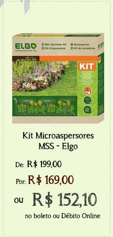 Mss kit de irrigação