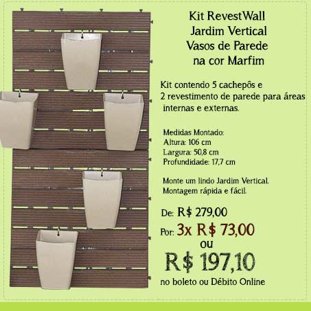Kit Jardim Vertical