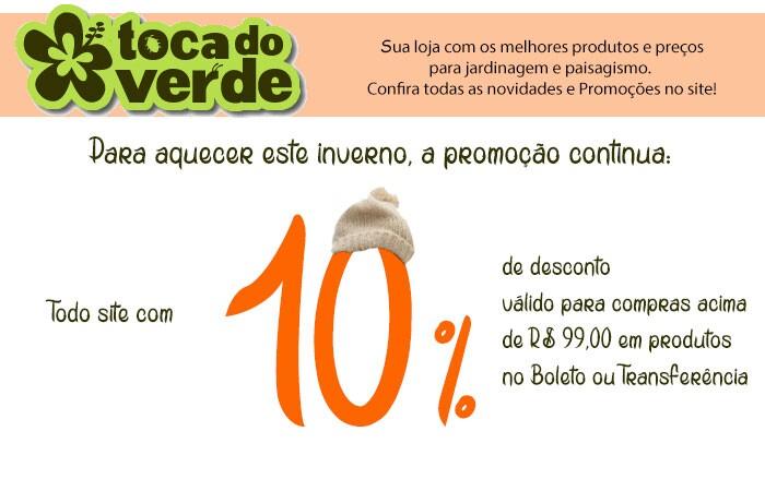 10 % off no Boleto acima de R$ 99,00